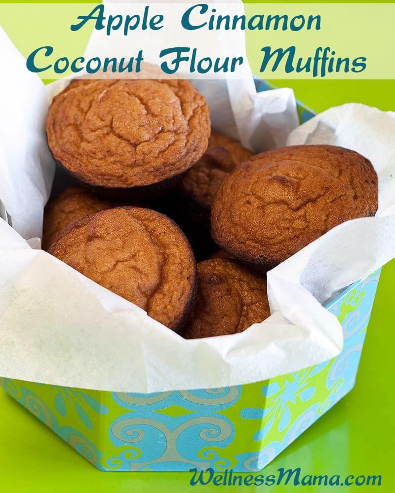 Apple-Cinnamon-Coconut-Flour-Muffins-Easy-Recipe-with-only-eight-ingredients